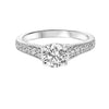 14KT White Gold Diamond Semi-Mount Bridal Ring 1/7 ctw
