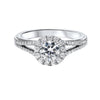 14KT White Gold Diamond Semi-Mount Bridal Ring 1/2 ctw