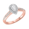 14KT Diamond Pear Bridal Ring 5/8 CT