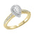 14K Two-Toned White-Yellow 1/2 CTW Pear Shape Ring with 1/3 CT Center