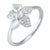 White Gold Flower Diamond Ring 1/7 CTW