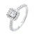 Emerald Cut Starburst Halo Diamond Engagement Ring In 14k White Gold (1ctw)