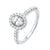 Oval Starburst Halo Diamond Engagement Ring In 14k White Gold (1ctw)