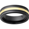 Black Diamond Ceramic™ Band with 2mm 18K Yellow Gold Inlay