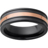 Black Diamond Ceramic™ Band with 2mm 14K Rose Gold Inlay