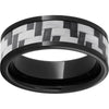 Black Diamond Ceramic™ Pipe Cut Band with Gray Carbon Fiber Inlay