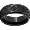 Black Diamond Ceramic™ Beveled Edge Band with Viking Laser Engraving