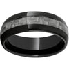 Black Diamond Ceramic™ Domed Band with 4mm Gray Carbon Fiber Inlay