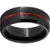 Serinium® Beveled Edge Band with Cabernet Barrel Aged™ Inlay and Grain Finish