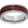 Serinium® Pipe Cut Band with Cabernet Barrel Aged™ Inlay & Notched Finish