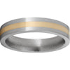 Titanium Flat Band with a 2mm 14K Yellow Gold Inlay and Satin Finish