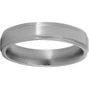 Titanium Flat Band with Grooved Edges and Polished Finish