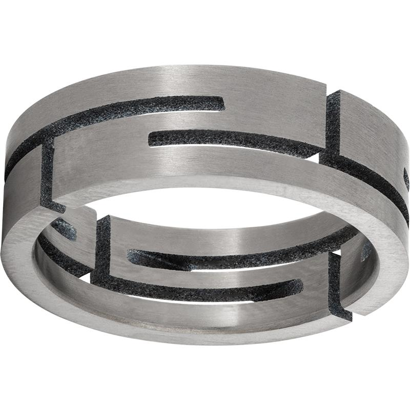 Titanium Flat Band with Cutout Design