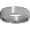 Titanium Flat Band with Grooved Edges and Polish Finish