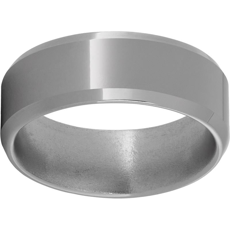 Titanium Beveled Edge Band with Polish Finish