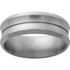 Titanium Concave Band with a .5mm Groove and Satin Finish