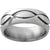 Titanium Domed Band with Infinity Design and Polish Finish