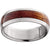 Titanium Domed Band with Exotic Red Mallee Burl Wood Inlay
