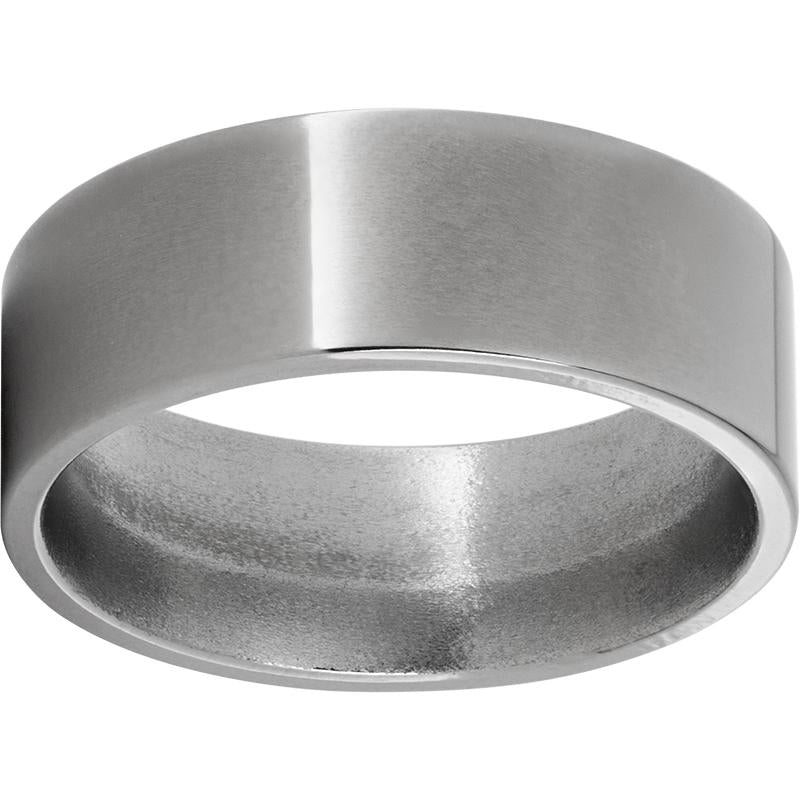 Titanium Flat Band with Polished Finish