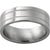 Titanium Flat Band with Two .5mm Milgrain Grooves with Polish Finish