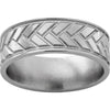 Titanium Band with Woven Design