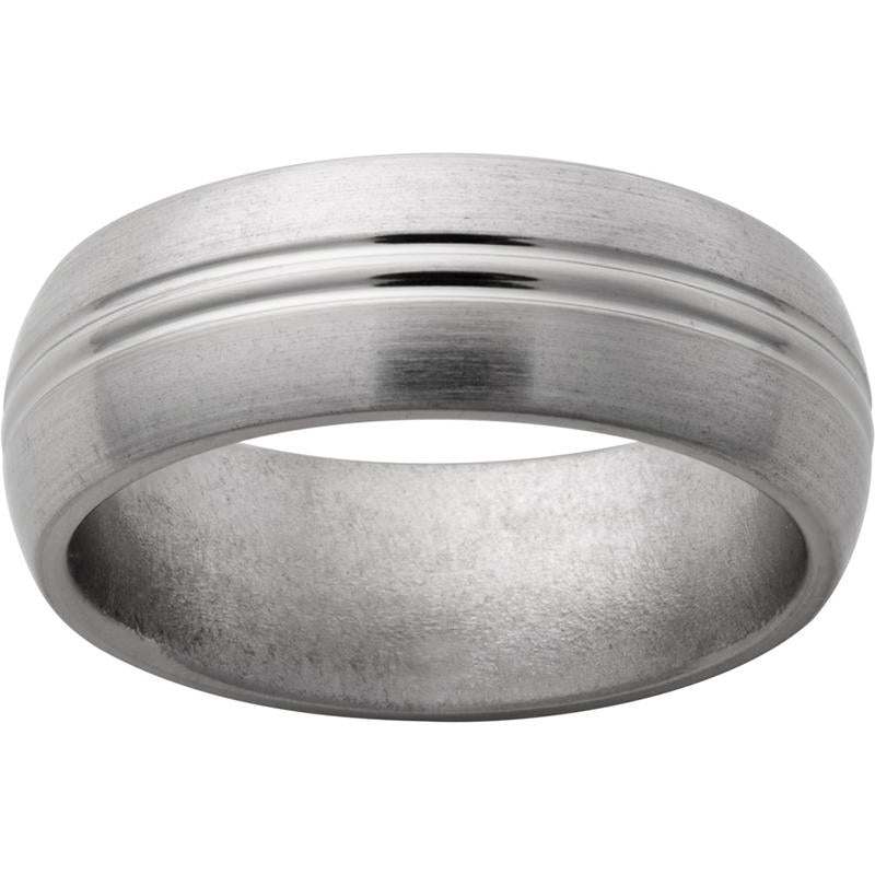 Titanium Domed Band with Satin Finish