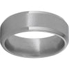 Titanium Beveled Edge Band with Stone Finish