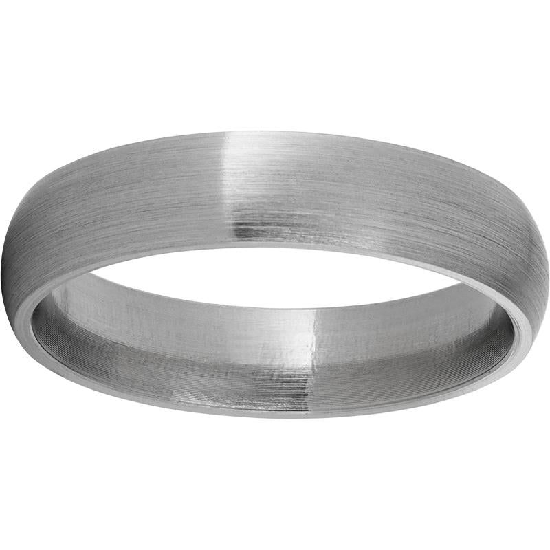 Titanium Domed Band with a Satin Finish
