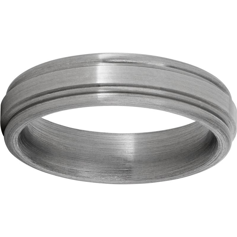 Titanium Rounded Edge Band with Satin Finish