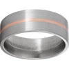 Titanium Flat Band with a 1mm 14K Rose Gold Inlay and Satin Finish