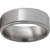 Titanium Flat Band with Milgrain Grooved Edges and Satin Finish