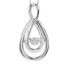 SS Diamond ROL Fashion Pendant 1/50Ct