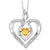 Synthetic Citrine Heart Infinity Symbol ROL Rhythm Of Love Pendant In Sterling Silver