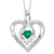 Synthetic Emerald Heart Infinity Symbol ROL Rhythm Of Love Pendant In Sterling Silver