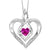 Synthetic Pink Tourmaline Heart Infinity Symbol ROL Rhythm Of Love Pendant In Sterling Silver