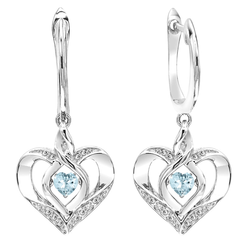 Sterling Silver ROL Prong Aquamarine Earrings 3/500CT
