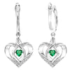 Sterling Silver ROL Prong Emerald Earrings