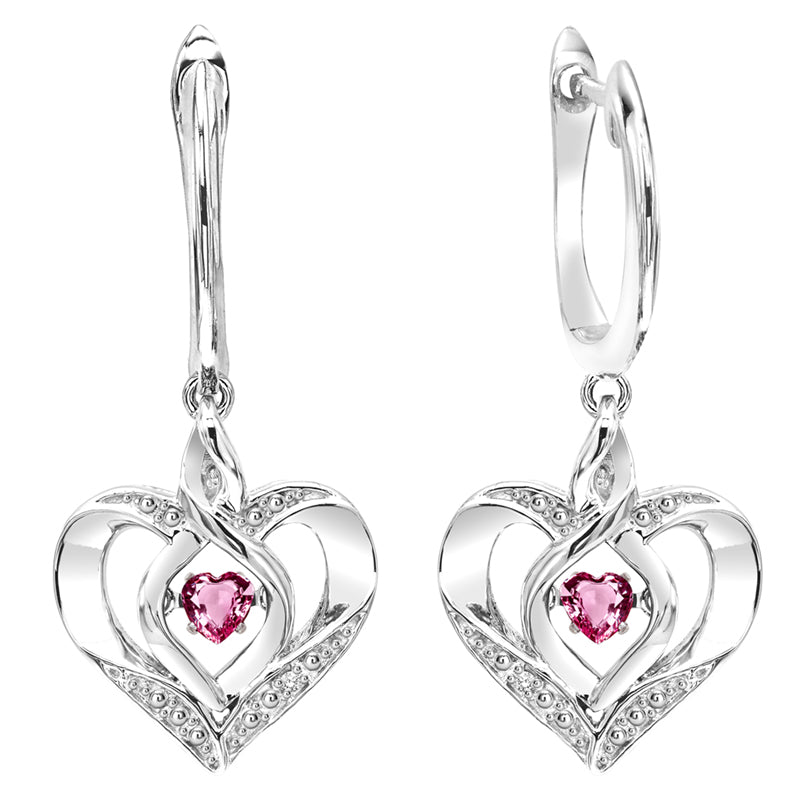Sterling Silver ROL Prong Pink Tourmaline Earrings 3/500CT