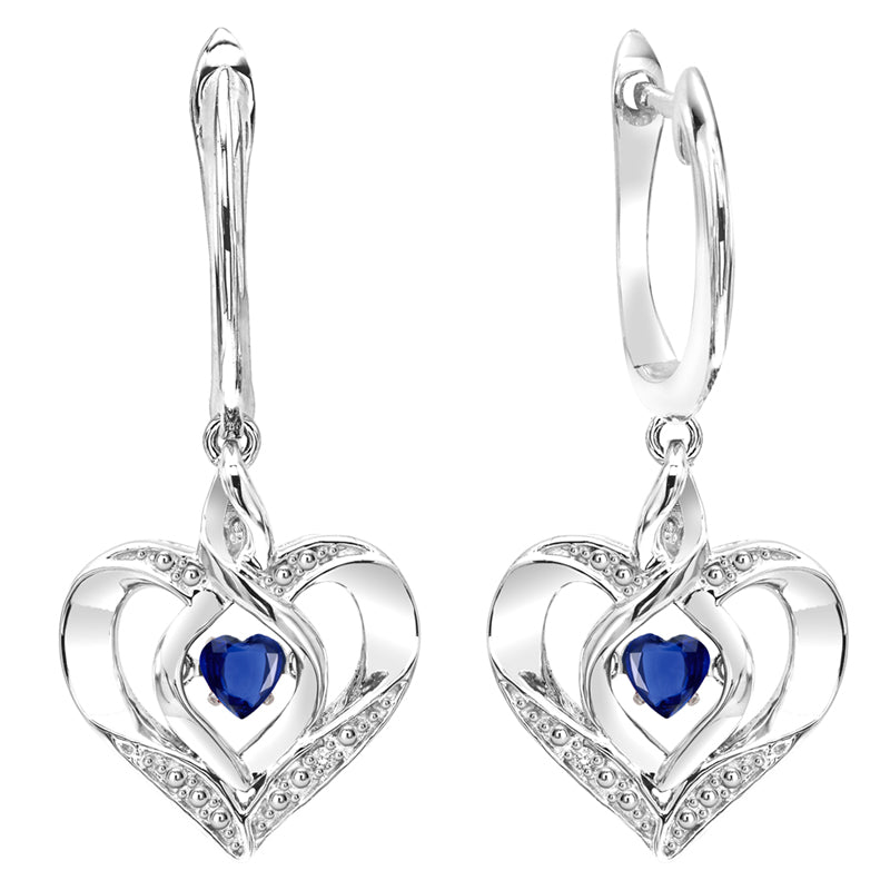 Sterling Silver ROL Prong Sapphire Earrings 3/500CT