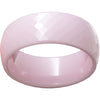 Pink Diamond Ceramic Domed Faceted Ring