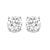 Diamond Round Classic Solitaire Stud Earrings In 14k White Gold (3/4 Ctw)