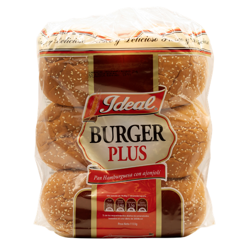 Ideal Bakery Pan Hamburguesa Plus 1.14 kg