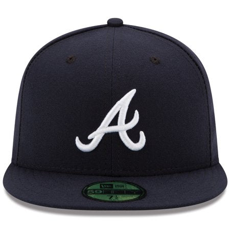 Gorra de Atlanta Braves New Era Road Authentic Collection On-Field 59FIFTY