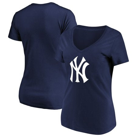 Camiseta para mujer de Majestic Navy New York Yankees.