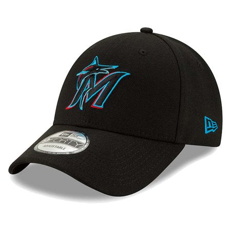 Gorra ajustable de Miami Marlins New Era 9FORTY .