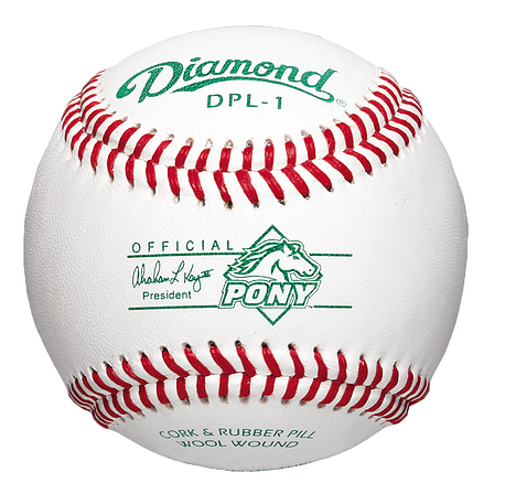 DPL-1 Pony League Leather Baseball - GAME DAY TEAMS