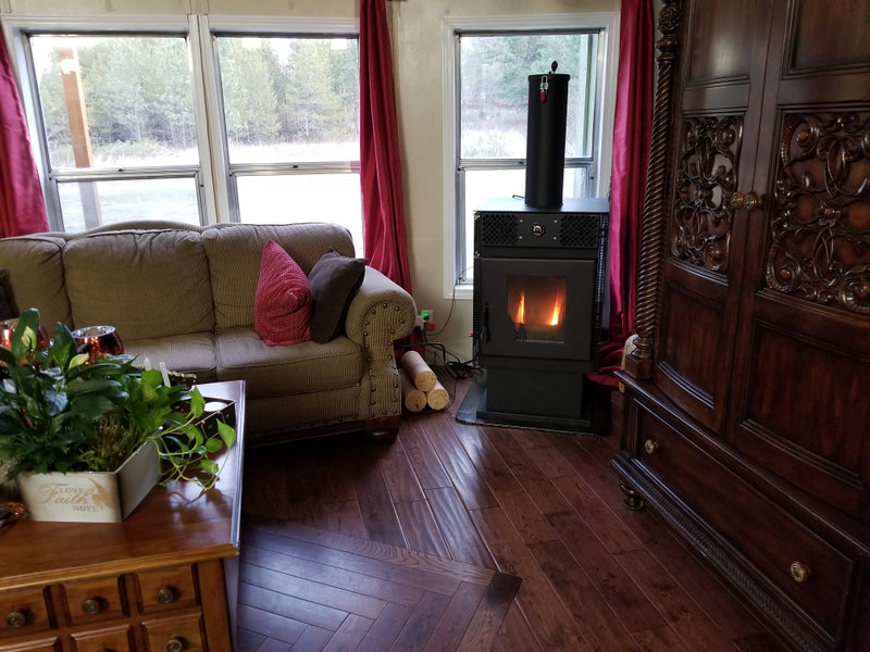 Award Winning Northwest Made Energy Log Stove