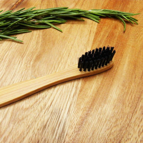 Bamboo Charcoal Toothbrush Box of 2