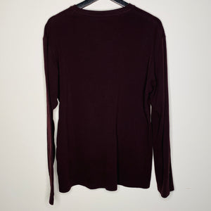Long Sleeve Maroon T-Shirt (L)