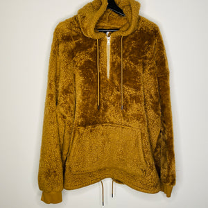 Camel Brown Fuzzy Hoodie (XL)